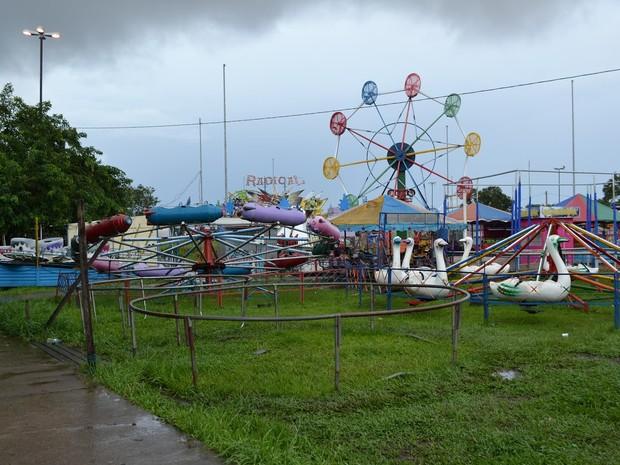 Parque no Centro de Macapá é uma das obras em exposição (Foto: Nicole Lemos Sena)