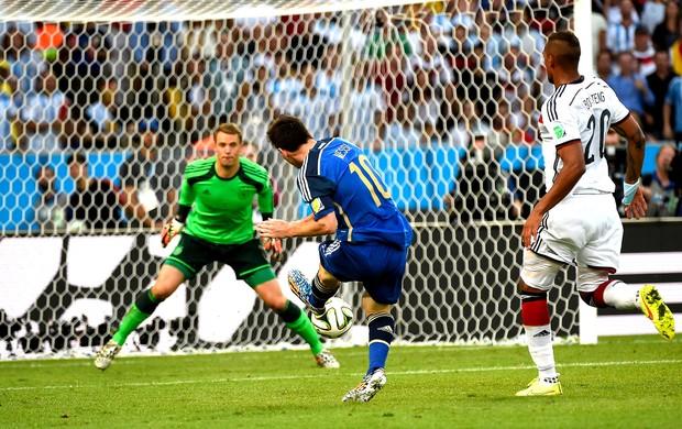 Messi final Copa Alemanha x Argentina (Foto: AFP)