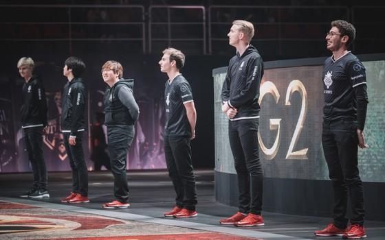 O time de League of Legends da G2 eSports. A franquia espanhola agora também tem donos brasileiros (Foto: Divulgação / Riot Games)