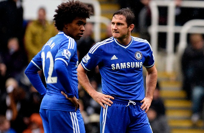 willian e lampard chelsea newcastle (Foto: Agência Reuters)