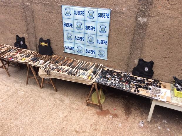 Susepe e Brigada Militar fizeram revista em presídio do RS (Foto: Reprodução/RBS TV)