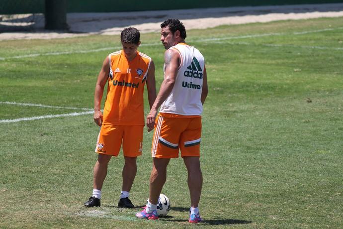 Fred e Conca, Treino do Fluminense (Foto: Fernando Cazaes / Photocamera)