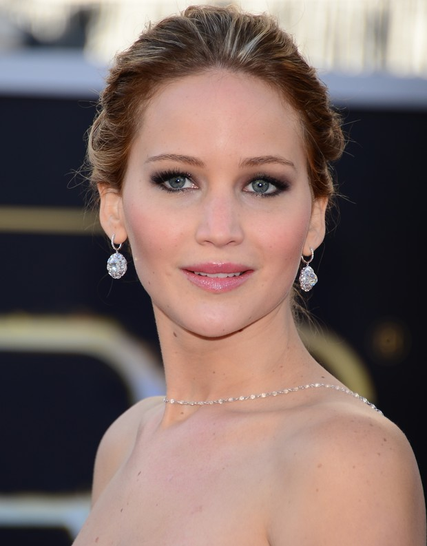 Jennifer Lawrence no Oscar (Foto: AFP / Agência)