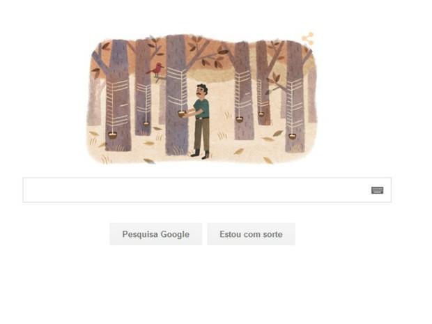Chico Mendes é homenageado em animação na ferramenta de busca do Google  (Foto: Reprodução/Google)