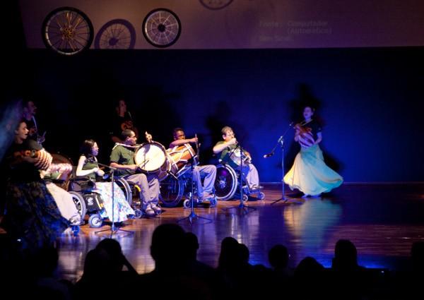 músicos cadeirantes (Foto: Divulgação/ Sesc Sorocaba)