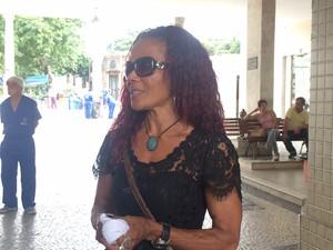 A Mãe de Sarah, Maria de Fátima Gonçalves  (Foto: Matheus Rodrigues/G1)