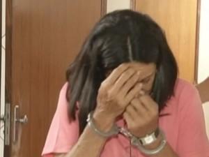 Idosa foi presa por aplicar golpes em empresários  (Foto: reprodução/TV Tem)