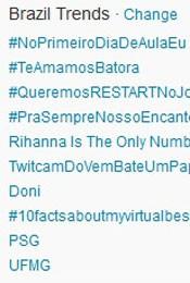 Trending Topics no Brasil às 17h14 (Foto: Reprodução)