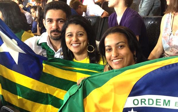 família de Sarah Menezes na torcida em Londres (Foto: Cahê Mota / Globoesporte.com)
