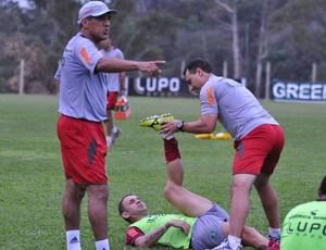 Silas; Magrão; América-MG; treino; CT Lanna Drumond (Foto: Reprodução / Site Oficial do América-MG)