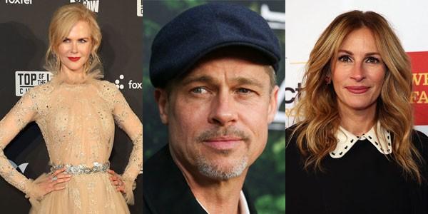 A atriz Nicole Kidman, o ator Brad Pitt e a atriz Julia Roberts (Foto: Getty Images)