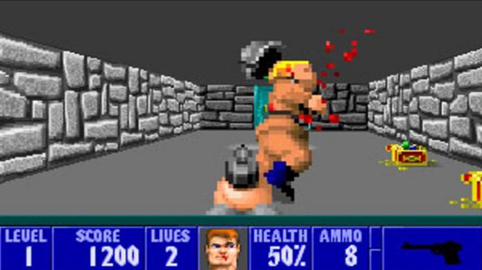 Wolfenstein 3D foi o precursor de Doom e lidou com polêmica pela violência em primeira pessoa (Foto: Reprodução/Steam)