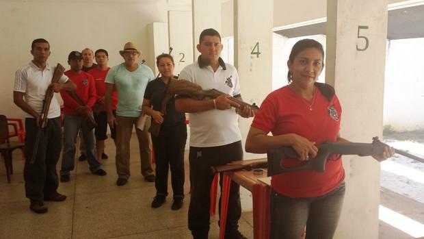 MPE e Clube do Atirador vencem campeonato de carabina, no AP (Foto: Wellington Costa/GE-AP)