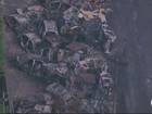 Imagens mostram carcaças de carros abandonados na Zona Norte do Rio