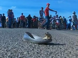 Duas mulheres morreram em protesto em Cristalina (GO) (Foto: Reprodução/TV Anhanguera)