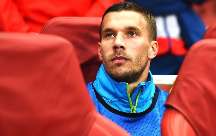 Lukas Podolski, Arsenal X Besiktas (Foto: Getty Images)