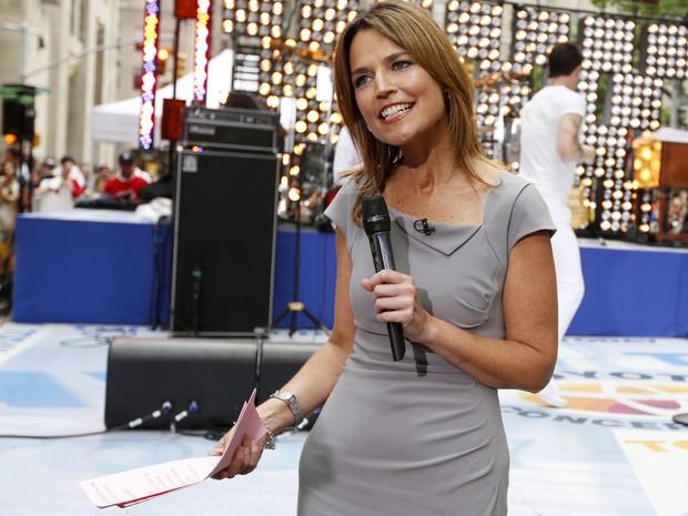 Savannah Guthrie apresenta o programa 'Today', da rede NBC (Foto: Reuters)