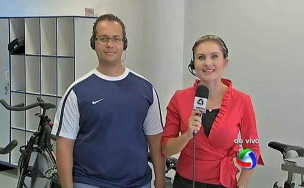 Diretamente do Sesc Porto, a repórter Graziela Dalbosco bate um papo com o instrutor Julio Cesar sobre essa alternativa para pedalar (Foto: TVCA)