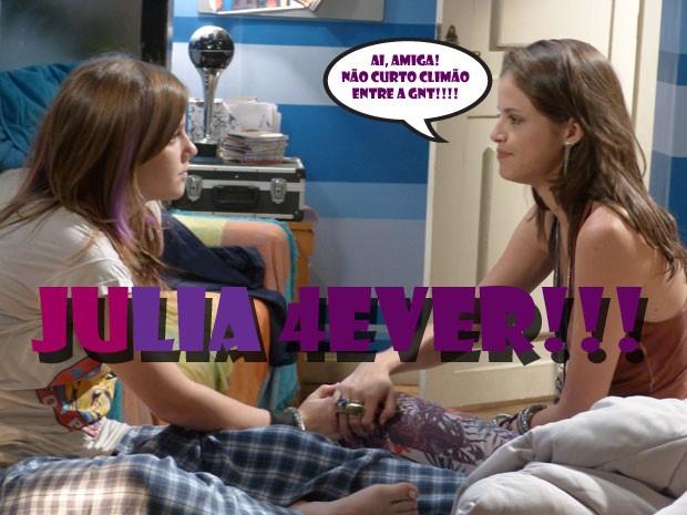 OOOOOWWWWWNNNN! JuLia voltou! TDB, né glr??? <3 <3 <3 (Foto: Malhação / Tv Globo)