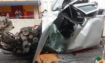 Capotagem deixa uma pessoa morta na Região de Venda Nova, em BH (Corpo de Bombeiros / Divulgação)