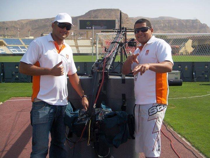 Gravação de campeonato em Oman, nos Emiaridos Árabes.  (Foto: Reprodução redes sociais)