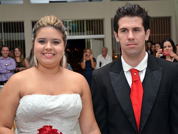 Lenyenne contou até com a ajuda da sogra para planejar o casamento surpresa (Foto: Paulo Vítor Toledo)