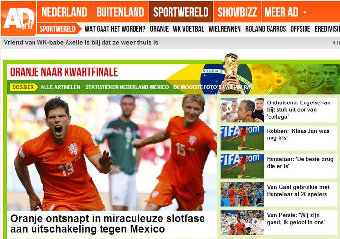 jornal holandês fala em milagre (Foto: Reprodução)