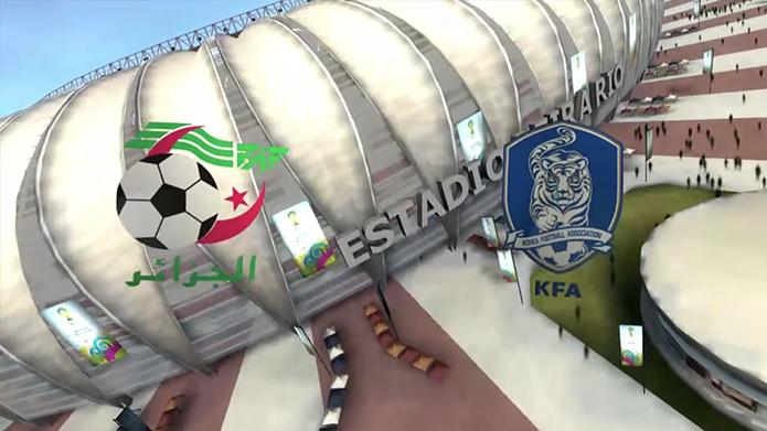 Simulação Copa do Mundo Fifa 2014: Argélia x Coréia (Foto: Reprodução/Murilo Molina)