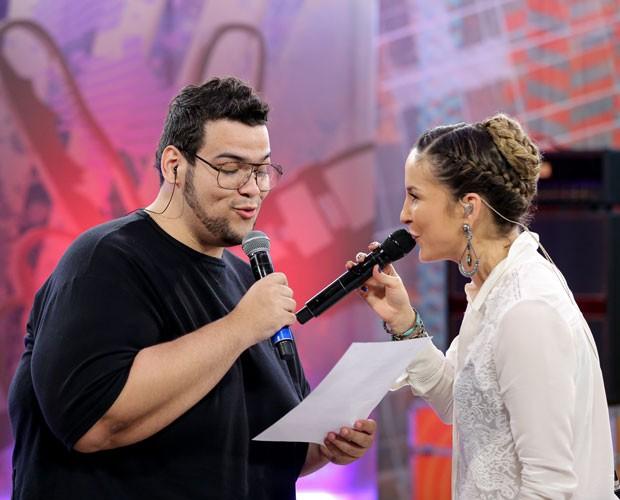 Lui Medeiros e Claudia Leitte ensaiam (Foto: Isabella Pinheiro/ Gshow)