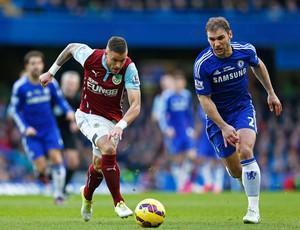 Chelsea x Burnley - lance de jogo (Foto: Getty)