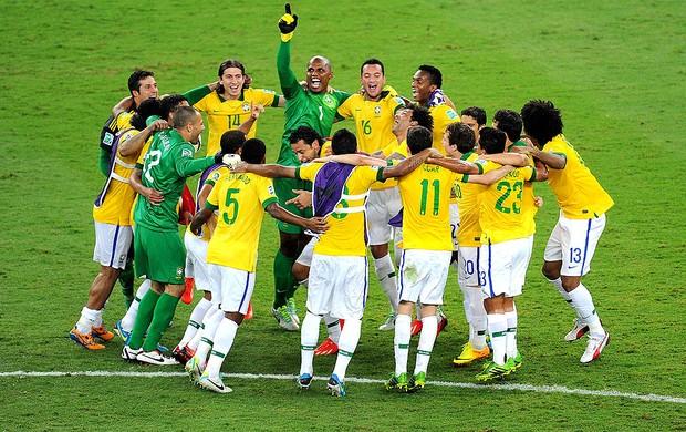 jogadores brasil comemoração final copa das confederações (Foto  Alexandre  Durão   Globoesporte.com a0ebbb45208a8