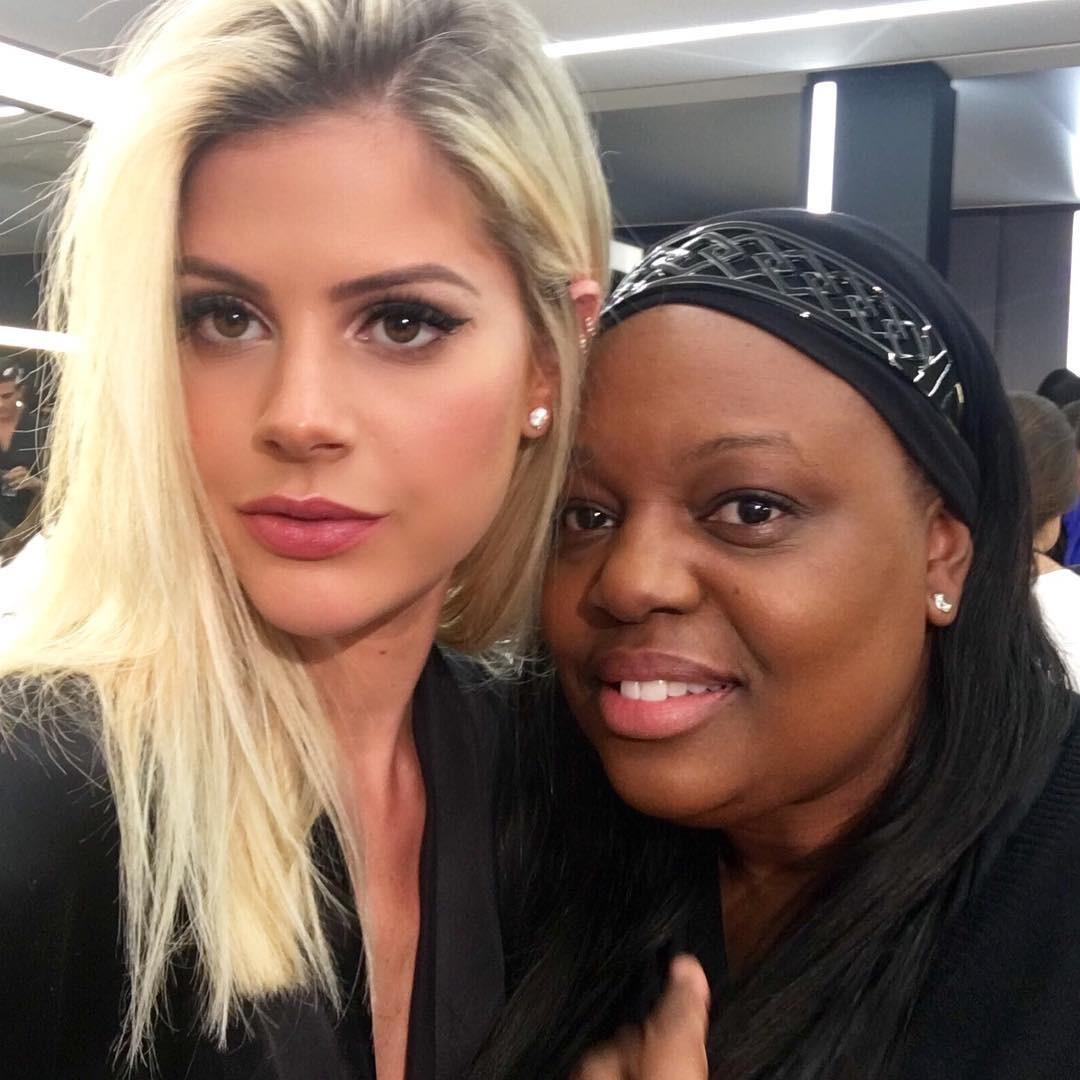 Lala com a maquiadora Pat McGrath (Foto: Reprodução/Instagram)