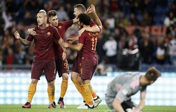 Sem Alisson, Roma goleia o Palermo e segue na cola do líder Juventus