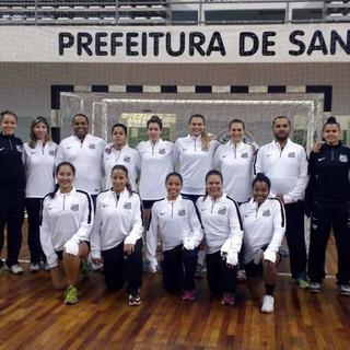 handebol santos feminino 2016 (Foto: Divulgação / Santos Cepe Clube 2004)