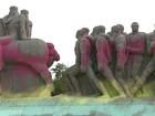 Polícia procura vídeos da ação de pichadores em monumentos em SP