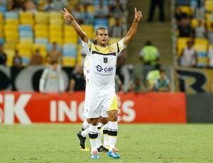 Sassá comemora, Botafogo x Volta Redonda (Foto: Roberto Filho/Agência Estado)