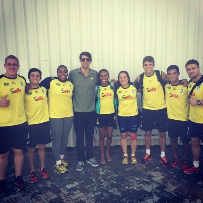 Michael Phelps equipe de judô São Paulo (Foto: Reprodução / Instagram)