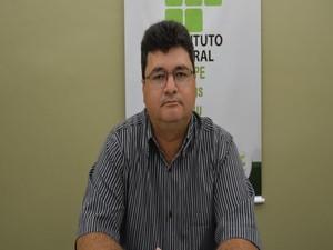 Ider de Santana, diretor-geral do IFS em exercício (Foto: Tássio Andrade/G1)