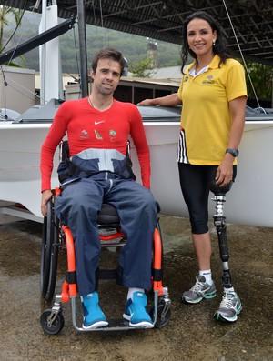 vela paralímpica Bruno Landgraf (Foto: André Durão)