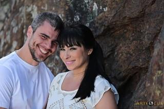 Luciana Picorelli com o marido (Foto: Divulgação/Divulgação)