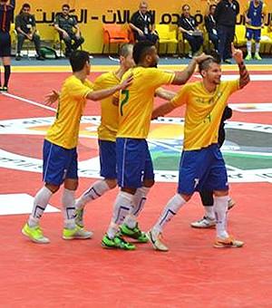 Copa Continental de Futsal, Brasil 6x1 República Tcheca (Foto: Luis Domingues / CBFS )