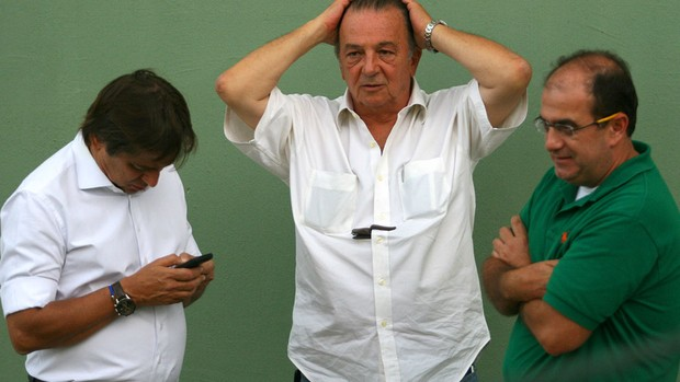 Tirone, Frizzo e Piraci no Palmeiras (Foto: Anderson Rodrigues/Globoesporte.com)