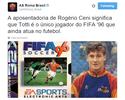 Twitter do Roma brinca com Rogério Ceni ao exaltar longevidade de Totti