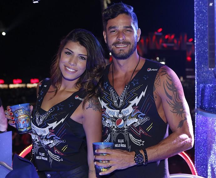 Fran e Diego no quinto de de Rock in Rio (Foto: Fábio Rocha / Gshow)