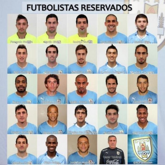 Uruguai - convocados (Foto: Reprodução/Twitter)