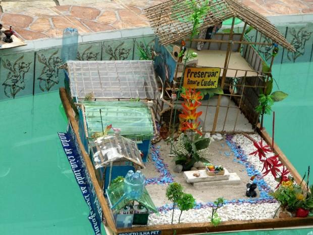 Apresentação da maquete da ilha PET (Foto: Divulgação/ Ilha PET)
