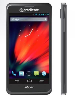 O iphone da Gradiente. A fabricante promete que aparelho custará metade do valor de seu principal concorrente (Foto: Divulgação/Reprodução Internet/Gradiente)