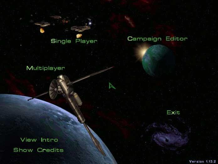 Escolha seu caminho no menu de StarCraft (Foto: Reprodução/Felipe Vinha)