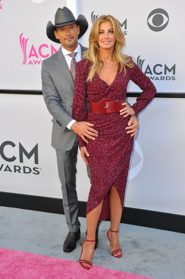 Tim McGraw e Faith Hill no American Country Music Awards (Foto: Getty Images)
