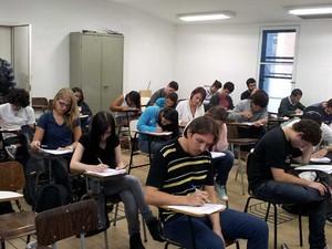 Alunos fazem exames de habilidades específicas na Unicamp em Campinas (Foto: Marcello Carvalho/G1)